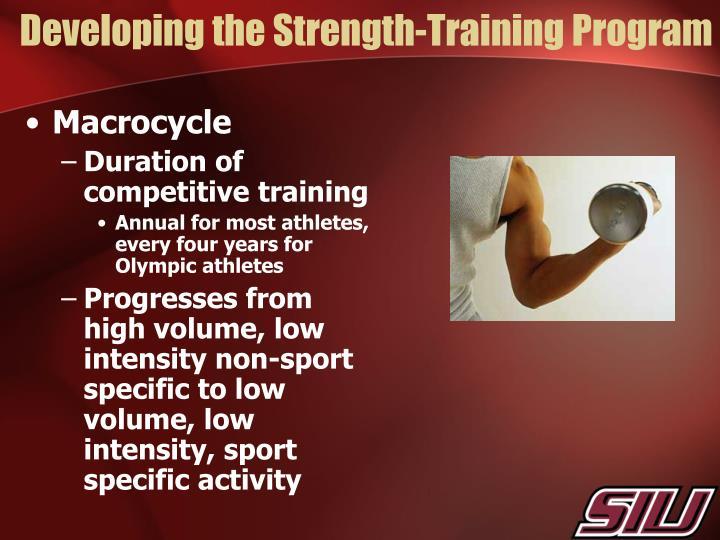 Developing the Strength-Training Program