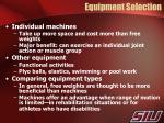 equipment selection1