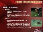 fitness testing parameters2