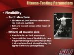 fitness testing parameters3