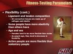 fitness testing parameters4