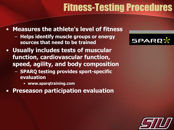 Fitness-Testing Procedures