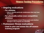 fitness testing procedures1