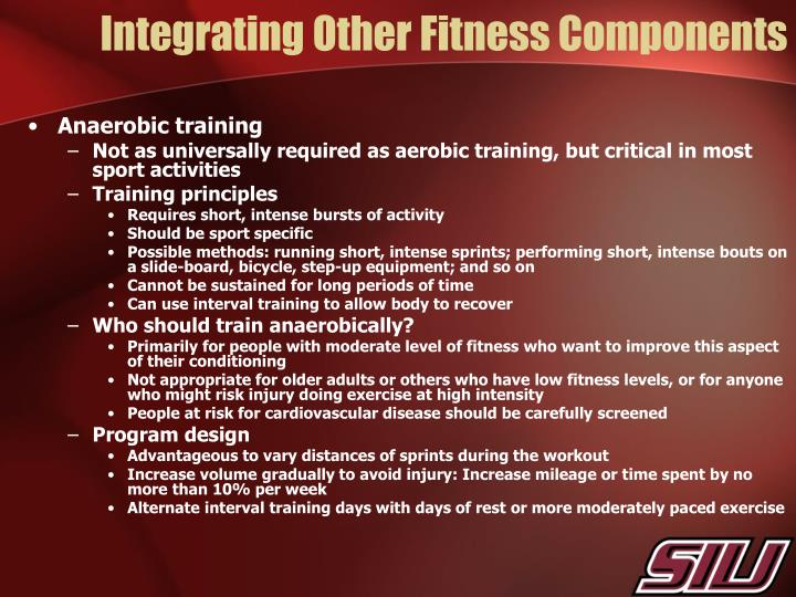 Integrating Other Fitness Components
