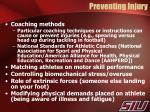 preventing injury