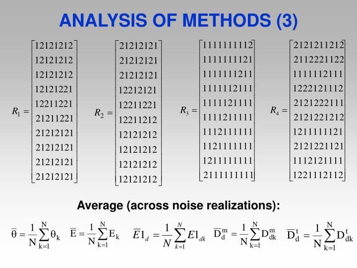 ANALYSIS OF METHODS (3)