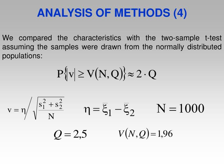 ANALYSIS OF METHODS (4)