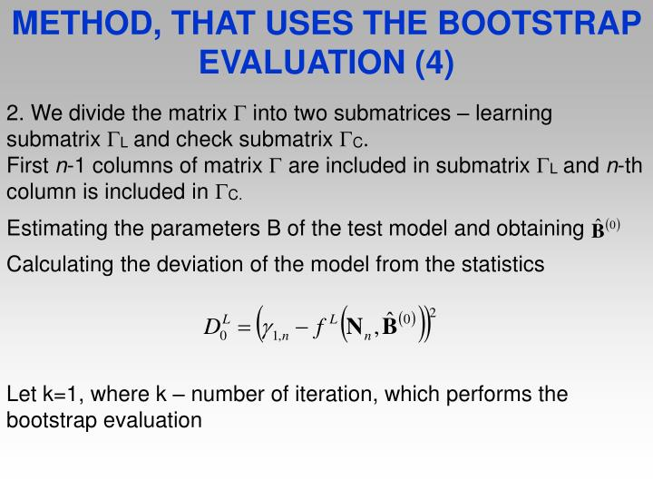 METHOD, THAT USES THE BOOTSTRAP EVALUATION (4)