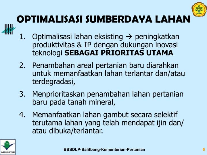 OPTIMALISASI SUMBERDAYA LAHAN