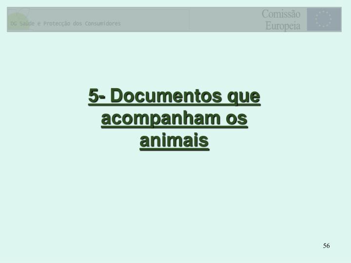 5- Documentos que acompanham os animais