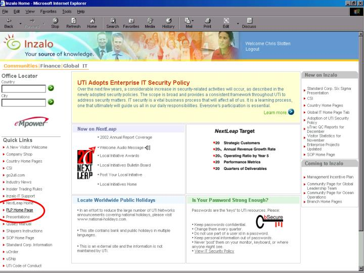 PLP Database Tour