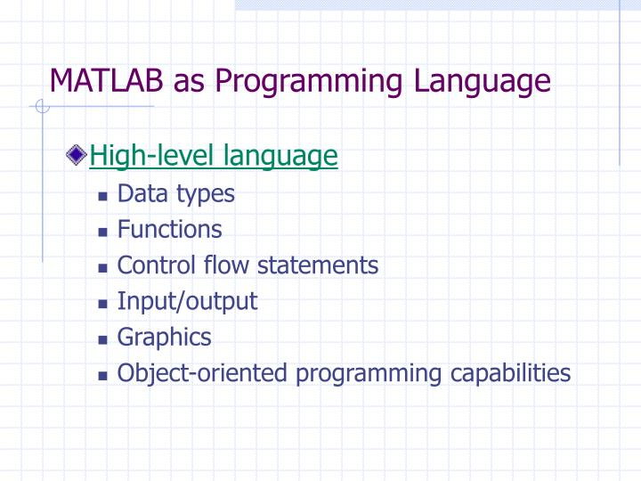 Introduction to Object-Oriented Programming in Matlab