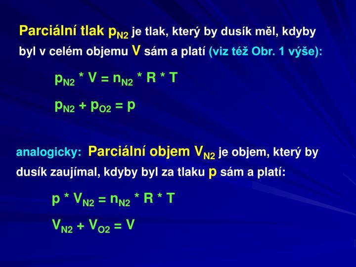 Parciální tlak p