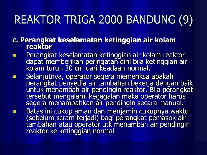REAKTOR TRIGA 2000 BANDUNG (9)