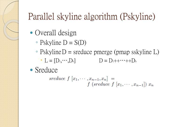 Parallel skyline algorithm (