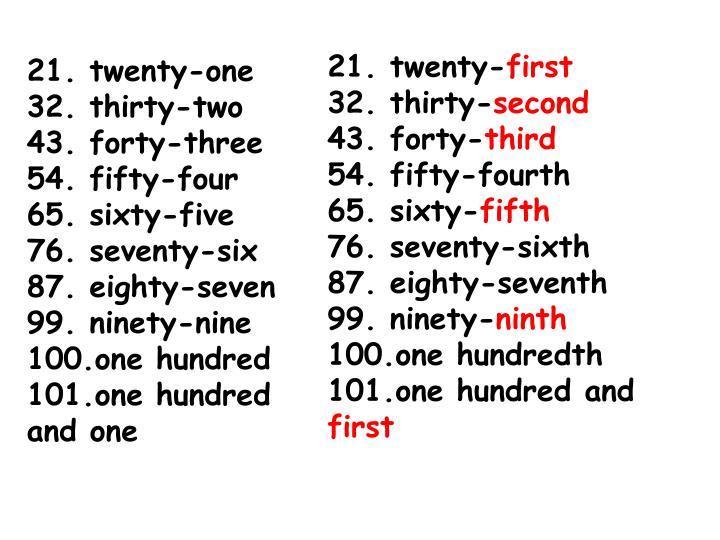 21. twenty-