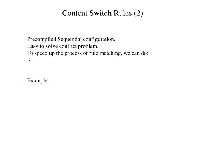 Content Switch Rules (2)