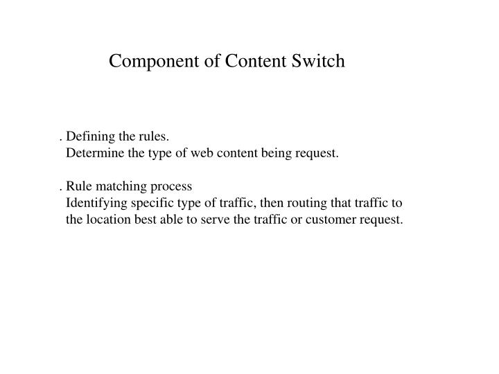 Component of Content Switch