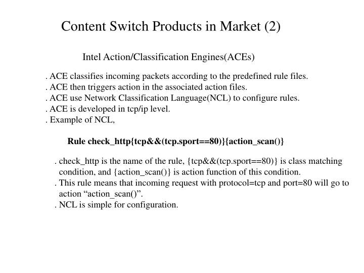 Content Switch Products in Market (2)
