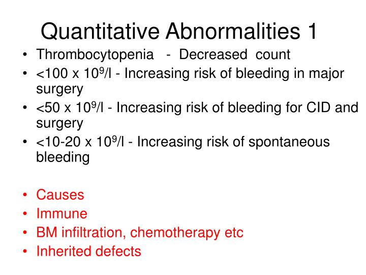 Quantitative Abnormalities 1