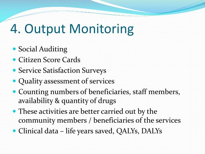 4. Output Monitoring