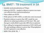 eg bmet tb treatment in sa