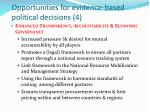 opportunities for evidence based political decisions 4