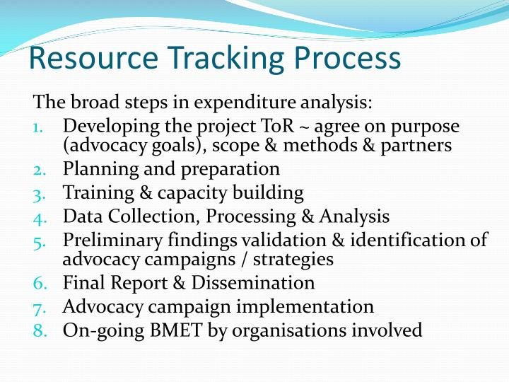 Resource Tracking Process