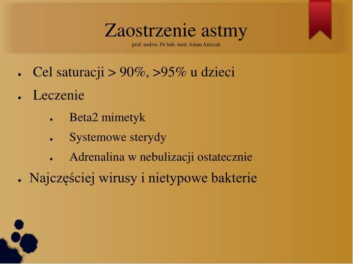 Zaostrzenie astmy
