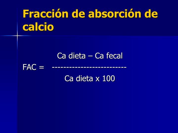 Fracción de absorción de calcio