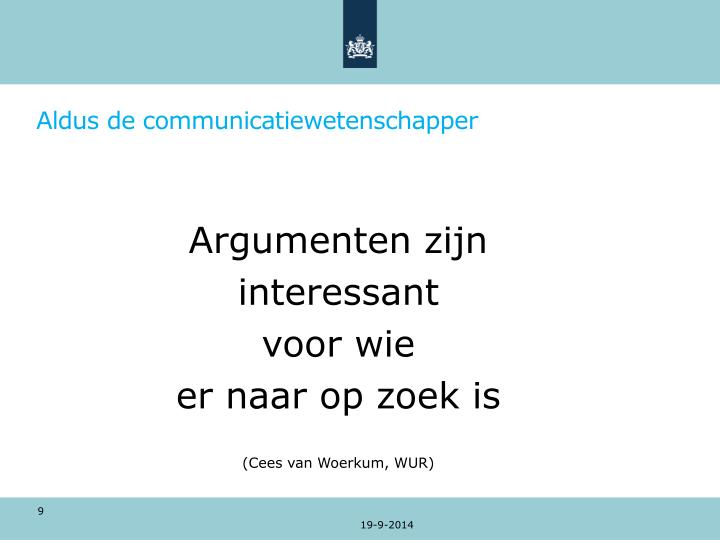 Aldus de communicatiewetenschapper