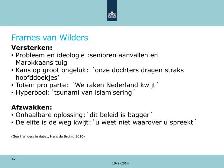 Frames van Wilders