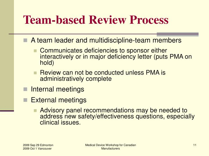Team-based Review Process