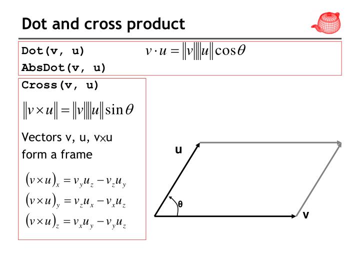 Dot and cross product
