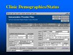 clinic demographics status
