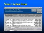 notes action items