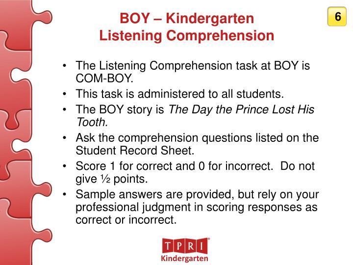 BOY – Kindergarten