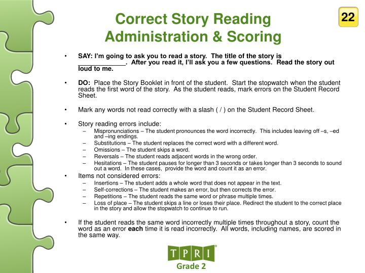 Correct Story Reading