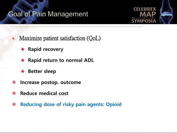 Goal of Pain Management