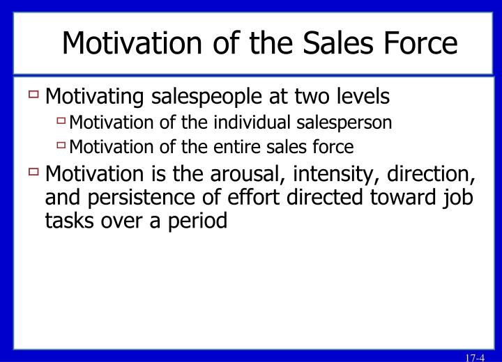 Motivation of the Sales Force