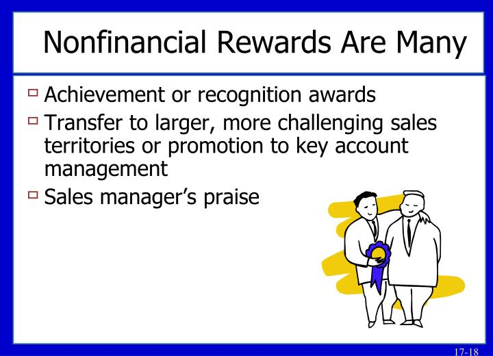 Nonfinancial Rewards Are Many