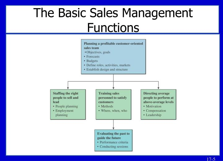 The Basic Sales Management Functions