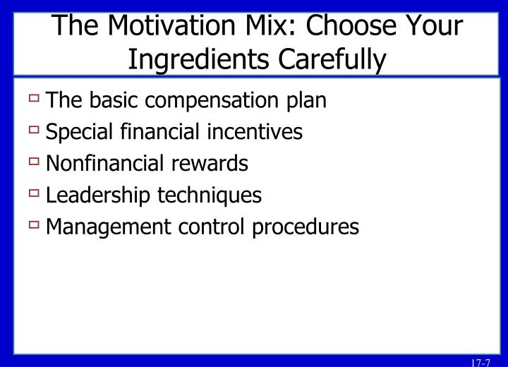 The Motivation Mix: Choose Your Ingredients Carefully