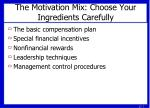 the motivation mix choose your ingredients carefully