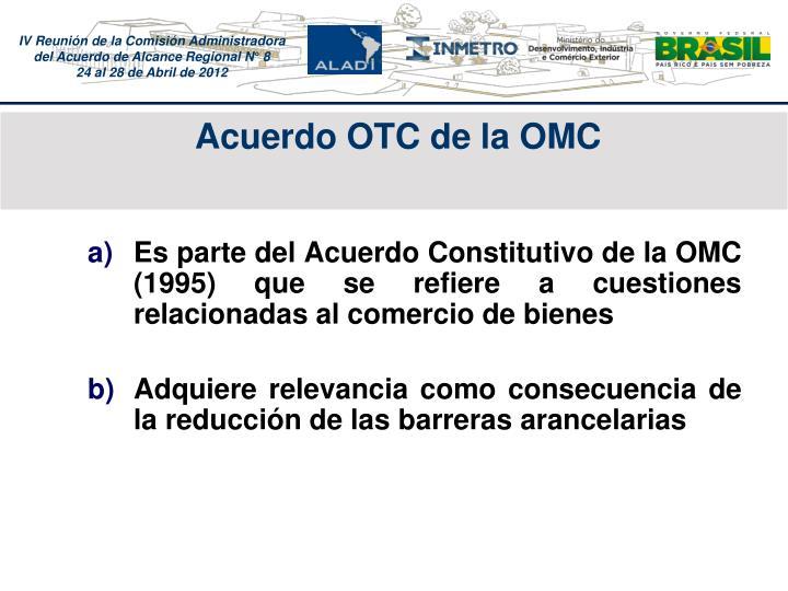 Acuerdo OTC de la OMC