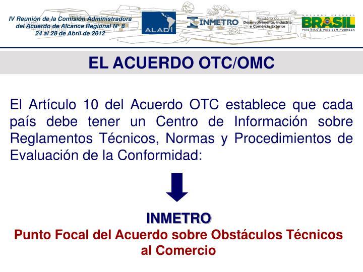 EL ACUERDO OTC/OMC