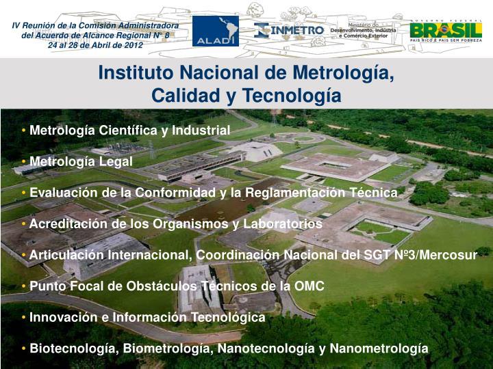 Instituto Nacional de Metrologa,