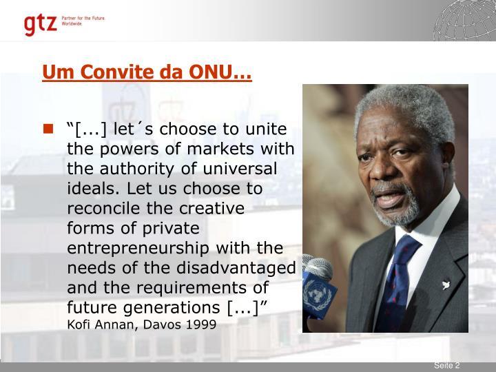 Um Convite da ONU…