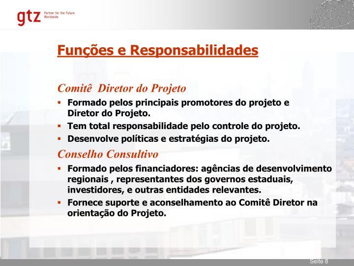 Funções e Responsabilidades