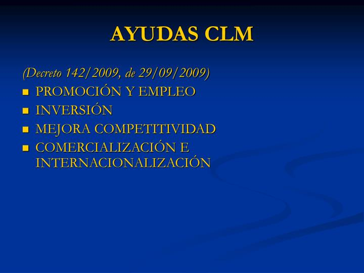 AYUDAS CLM